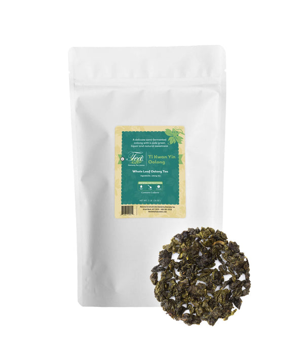 Ti Kwan Yin (Tieguanyin) - Bulk Loose Leaf Oolong Tea - Heavenly Tea Leaves
