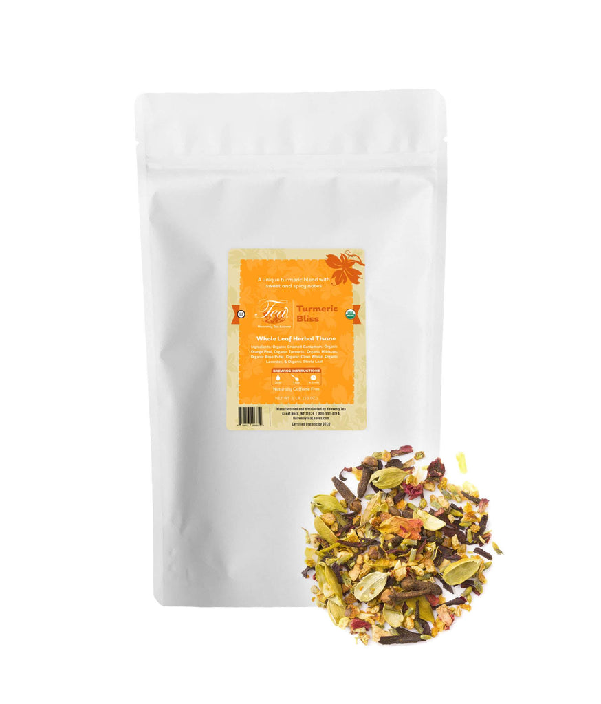 Organic Turmeric Bliss - Bulk Loose Leaf Turmeric Herbal Tisane - Heavenly Tea Leaves