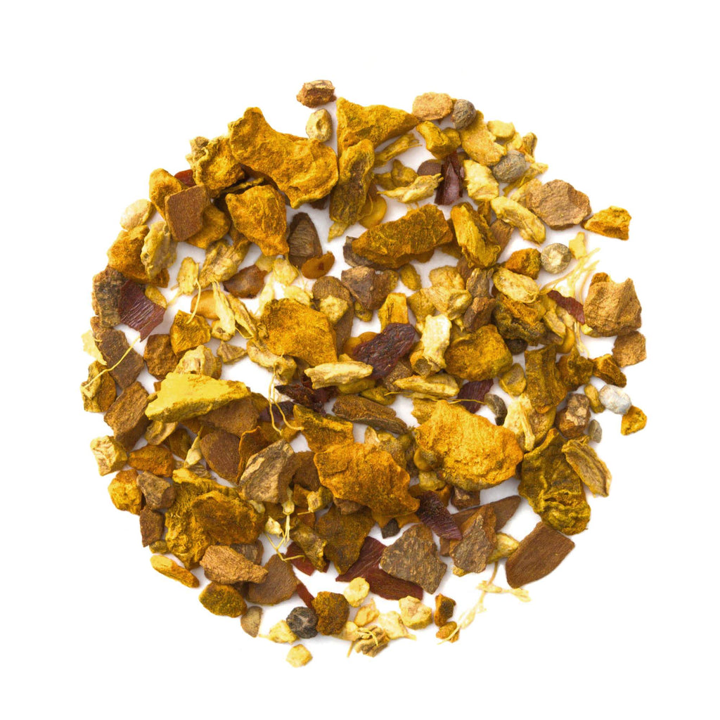 Turmeric Chili Chai - Golden Milk Loose Leaf Tea - Spicy Turmeric Herbal Tisane - Cold Relief - Throat Soother -Heavenly Tea Leaves