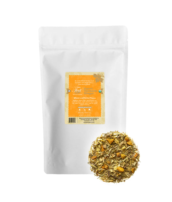 Turmeric Ginger Bulk - Wellness Loose Leaf Tea Blend - Heavenly Tea Leaves