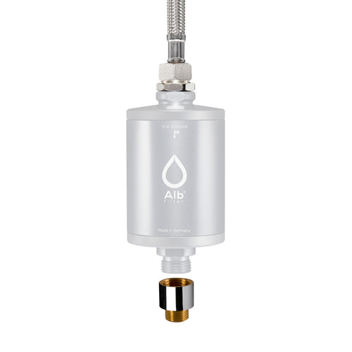 Alb filter connection set for under sink. Consisting of flexible hose and 3/8 inch thread adapter