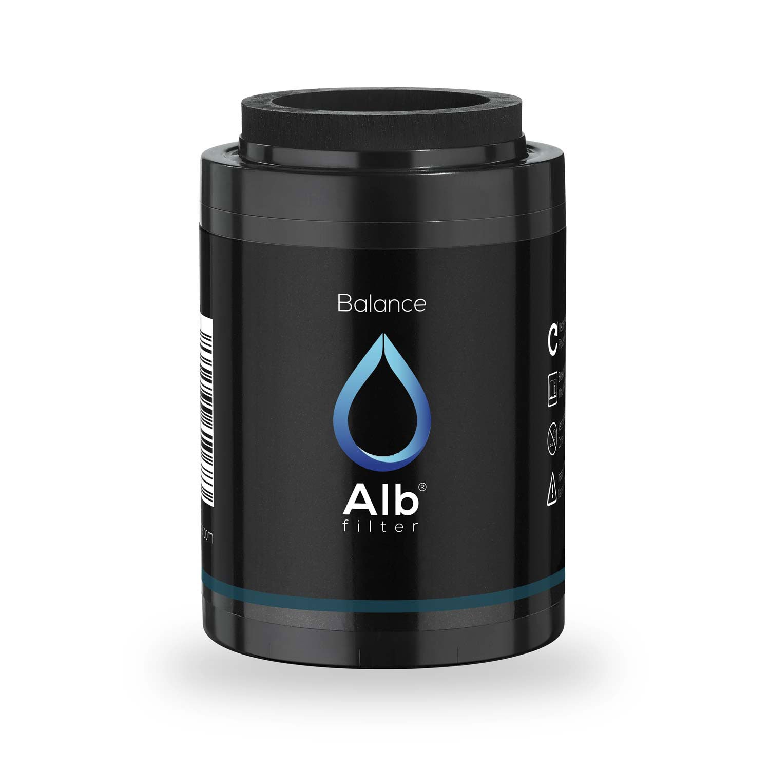 Balance shower filter cartridge against heavy metals, chlorine and pollutants in the water