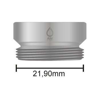 Male thread M22 with attached measuring tape