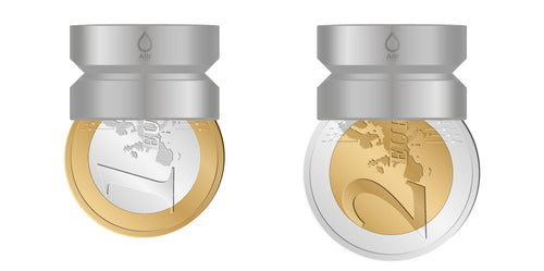 M22 thread adapter in comparison with EURO coins. Internal thread