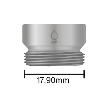 Male thread M18 with attached measuring tape