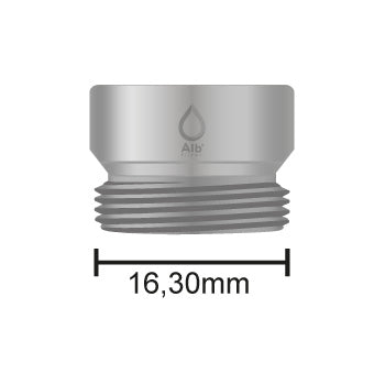 M16.5 male thread with dimensions
