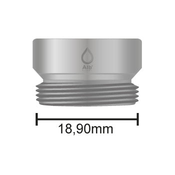 Male thread M19 with attached measuring tape