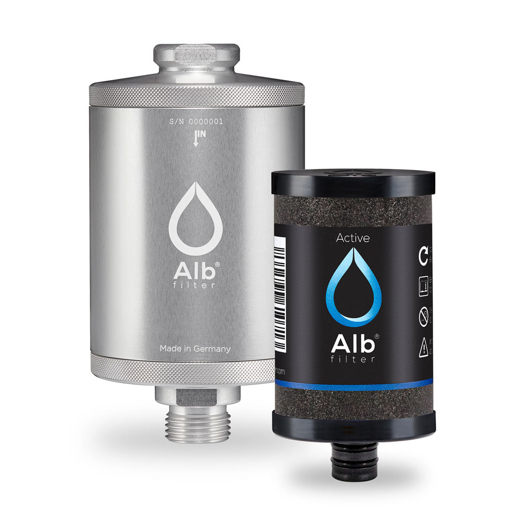 Alb drinking water filter. Housing with Active drinking water cartridge
