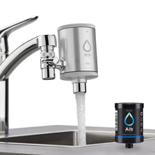 Alb Filter Duo with Aktvkohle exchange cartridge at the tap