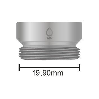 Male thread M20 with attached measuring tape