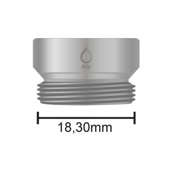 Male thread M18.5 with attached measuring tape