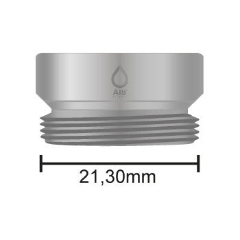 External thread M21.5 with attached measuring tape