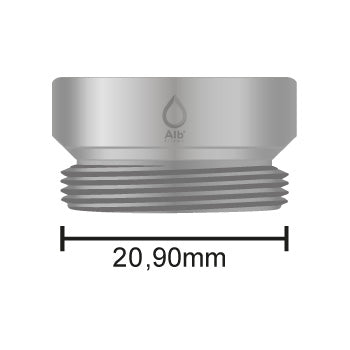 External thread M21 with attached measuring tape