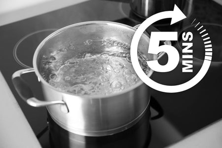 Boil water for at least 5 minutes during E.Coli exposure