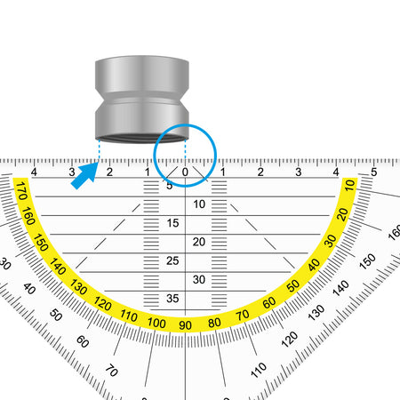 Aerator / jet regulator Measuring internal threads with the aid of a ruler