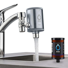 Alb Filter Duo with Active Plus+ activated carbon cartridge on the tap