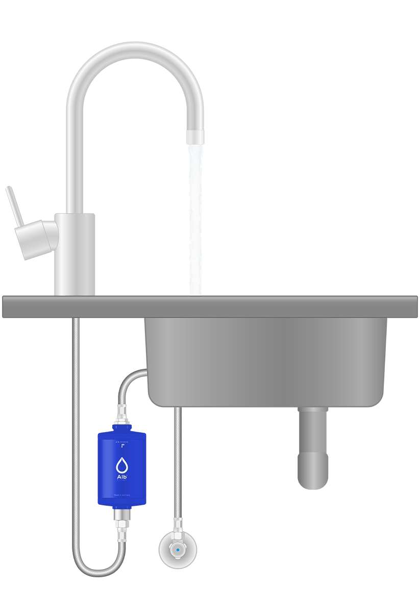 Installation diagram. Water filter for drinking water under the sink from Alb Filter