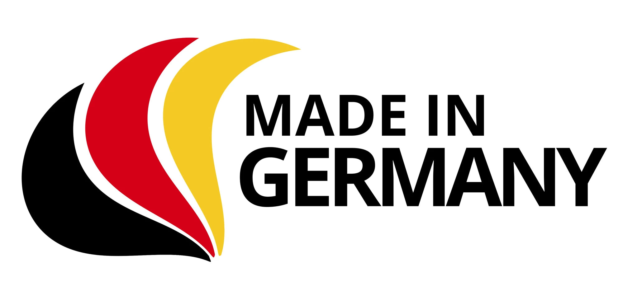 Made in Germany Flag. Alb Filter produces locally on the Swabian Alb