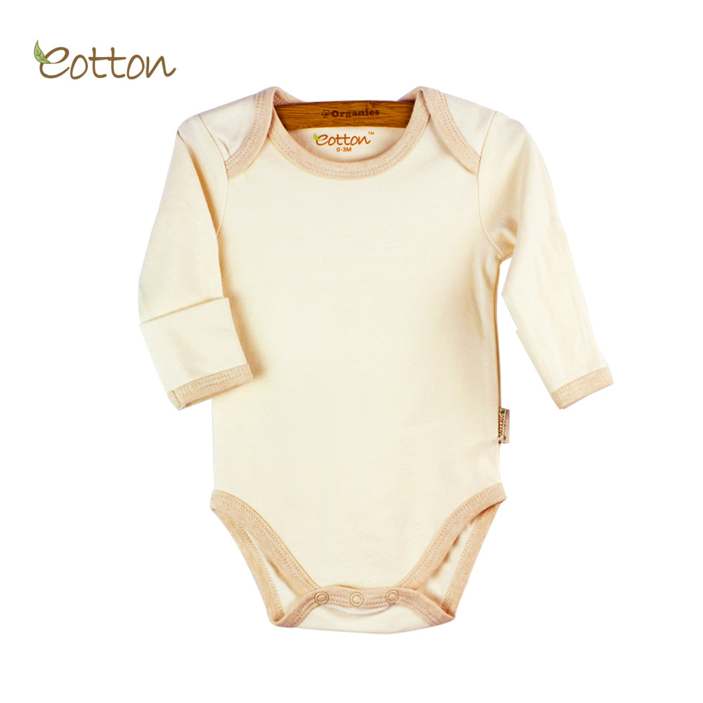 Organic Long Sleeve Body with Envelop Neck