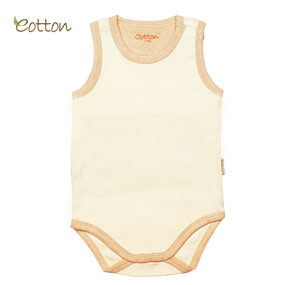 3-Pack Organic Sleeveless Baby Bodysuit