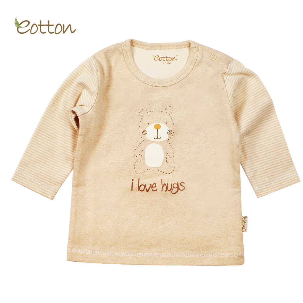 Organic Long Sleeve T-shirt with a Bear