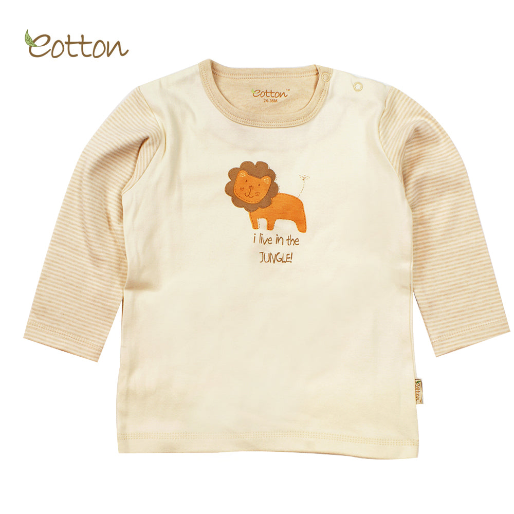 Organic Long sleeve T-shirt with a Lion