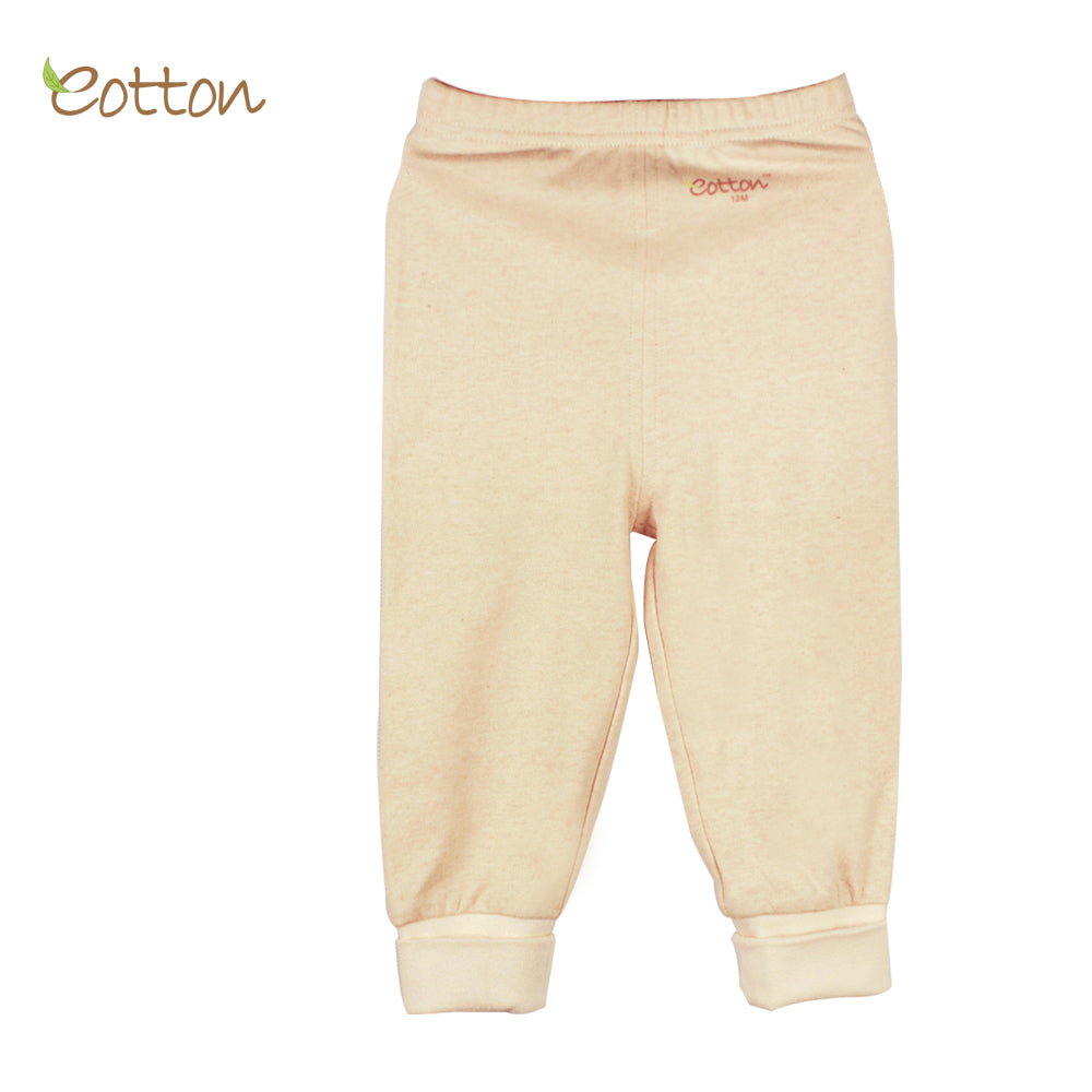 Organic Cream Trousers with Cuffs.