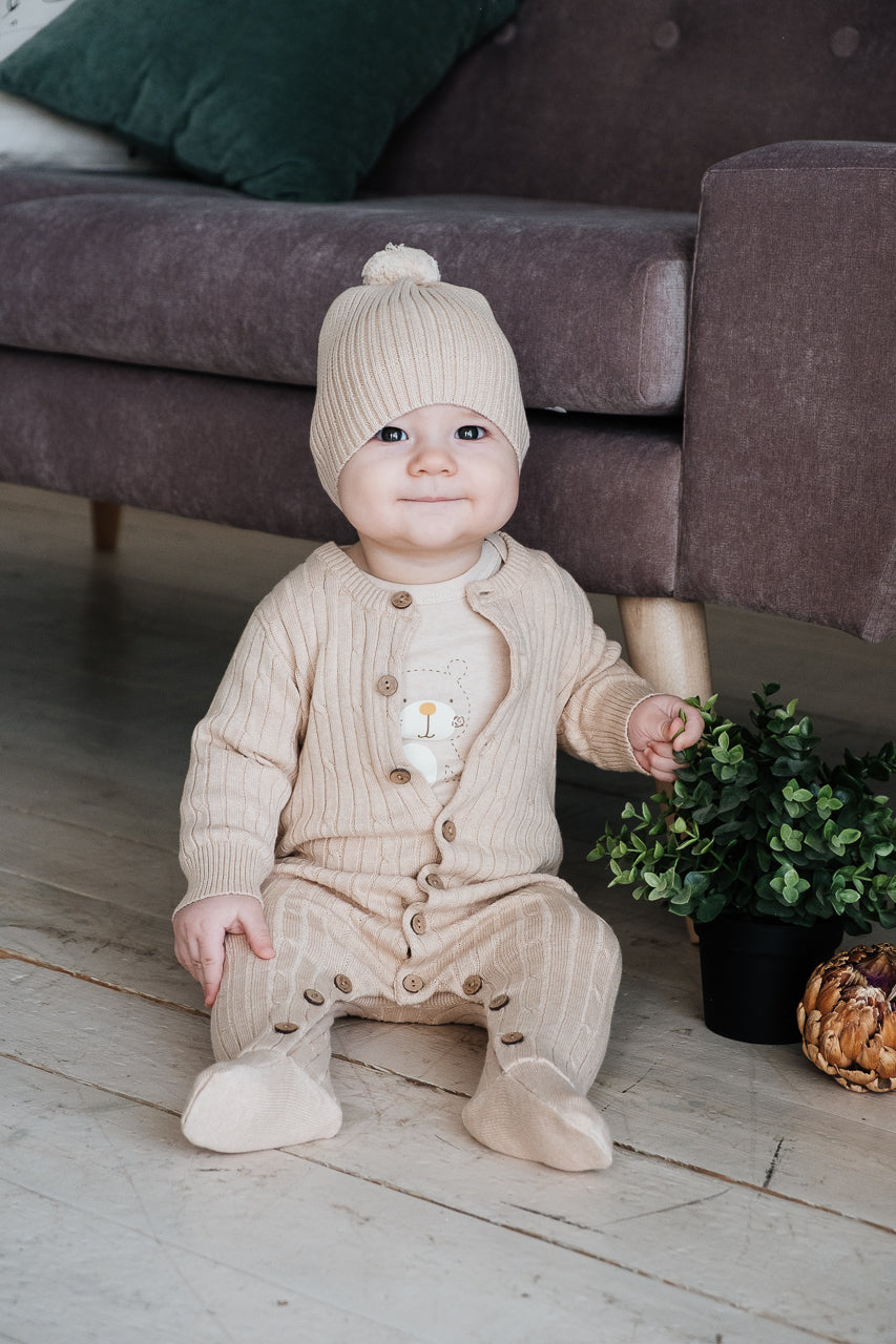 Organic Knitted Romper Vancouver