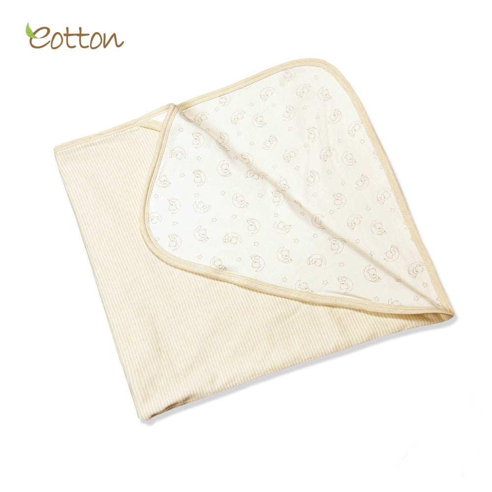 Organic Double Layer Blanket with Moon Pattern