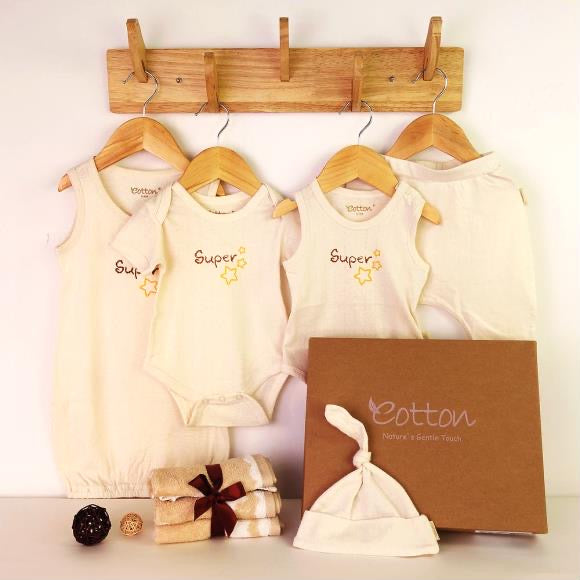 Organic Love Baby Boy Summer Newborn Gift Set