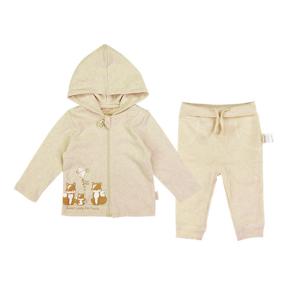 Organic Baby TrackSuit with Little Foxes