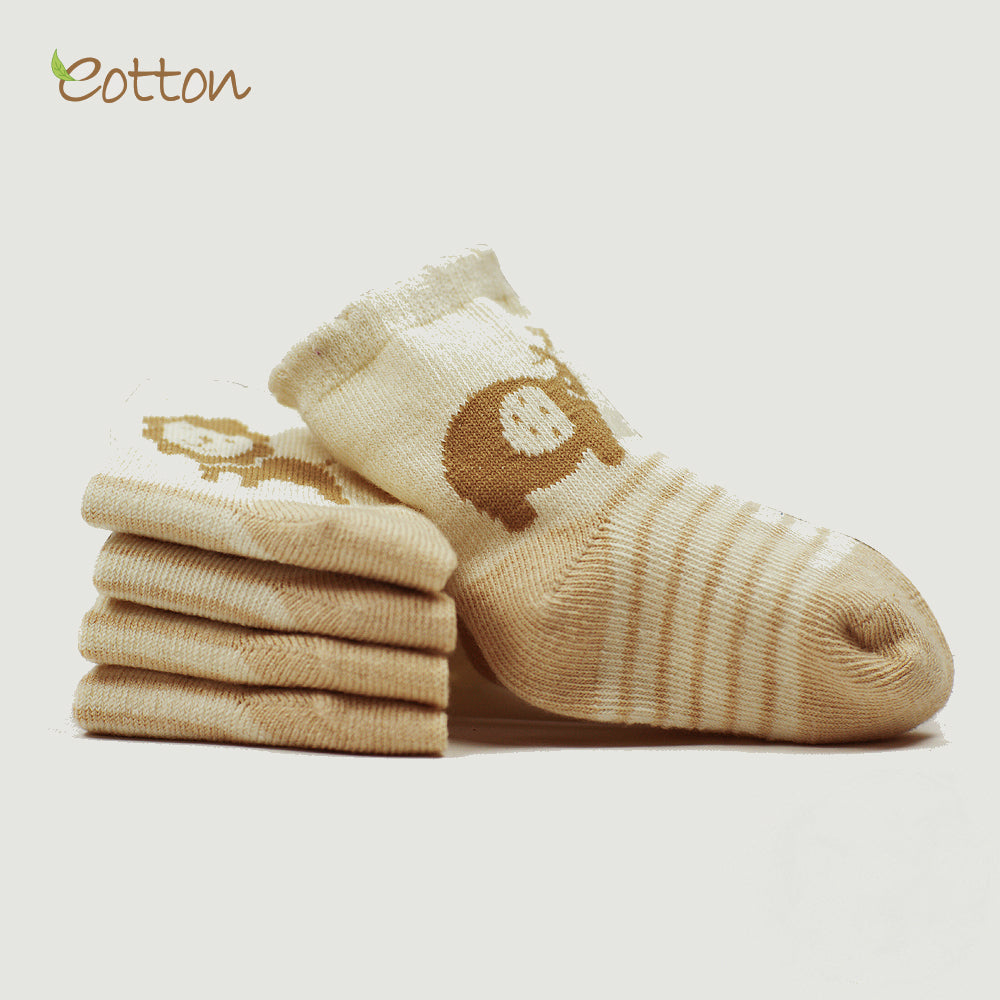 4-Pack Organic Cableknit Baby Socks.