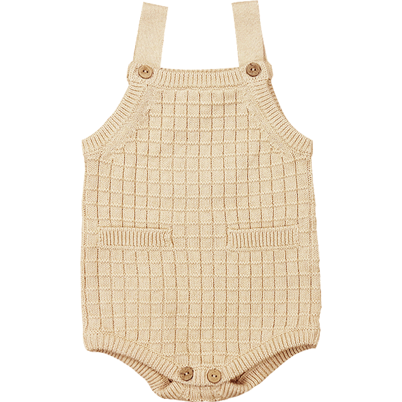 Organic Knitted Romper / Playsuit