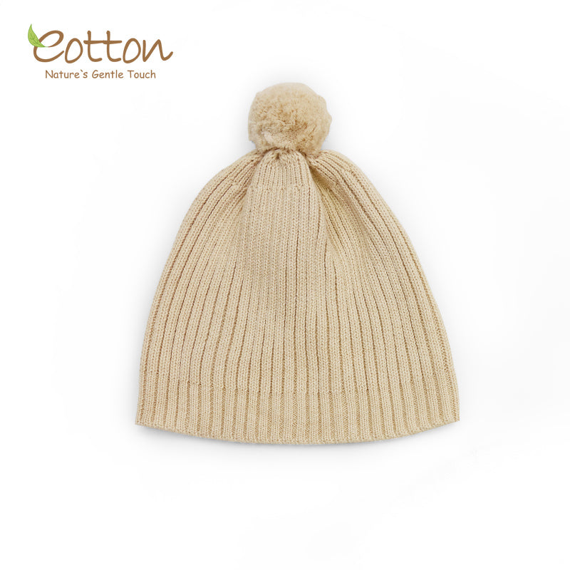 Organic Knitted Pompom Hat