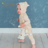 Organic Fox Baby Romper in Milk or Caramel