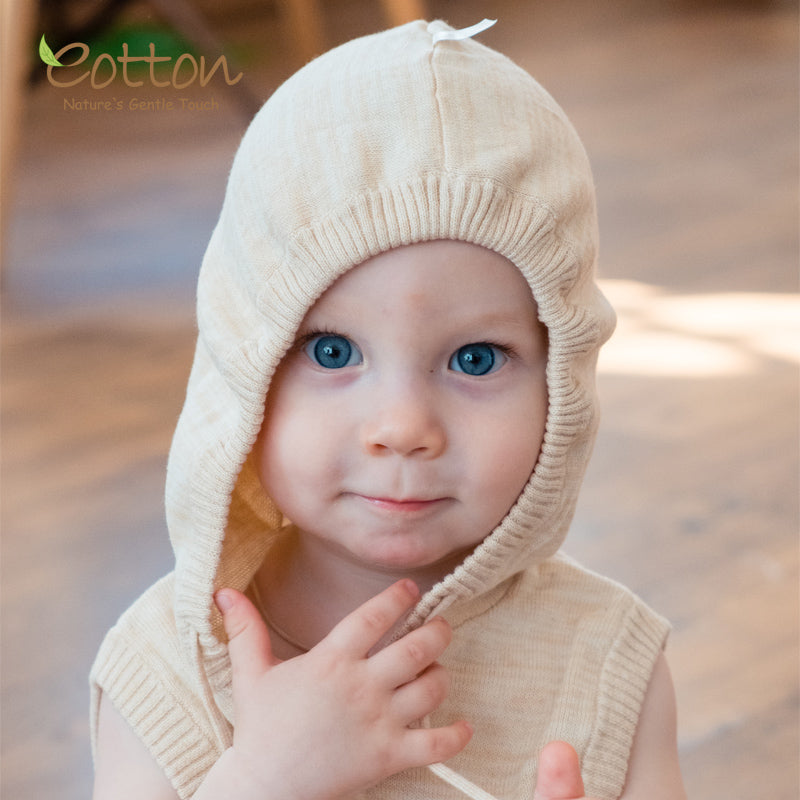 Organic Baby Knitted Vest with a Hood