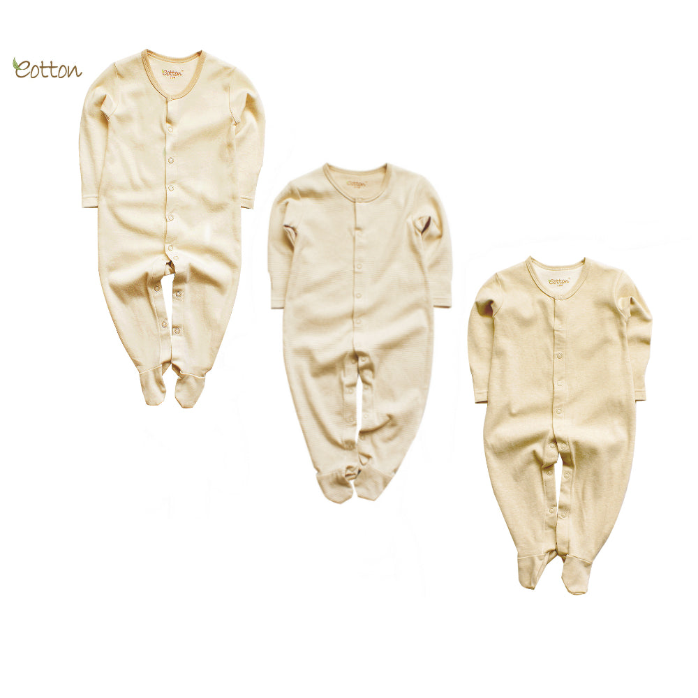 3-Pack Organic Cotton Sleepsuit