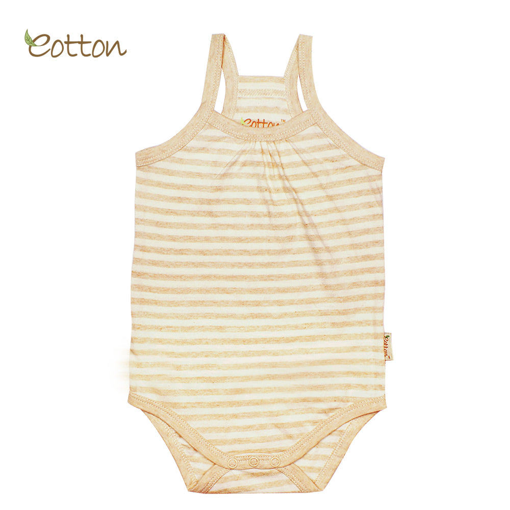 Organic Single Jersey Stripe Summer Baby Onesie