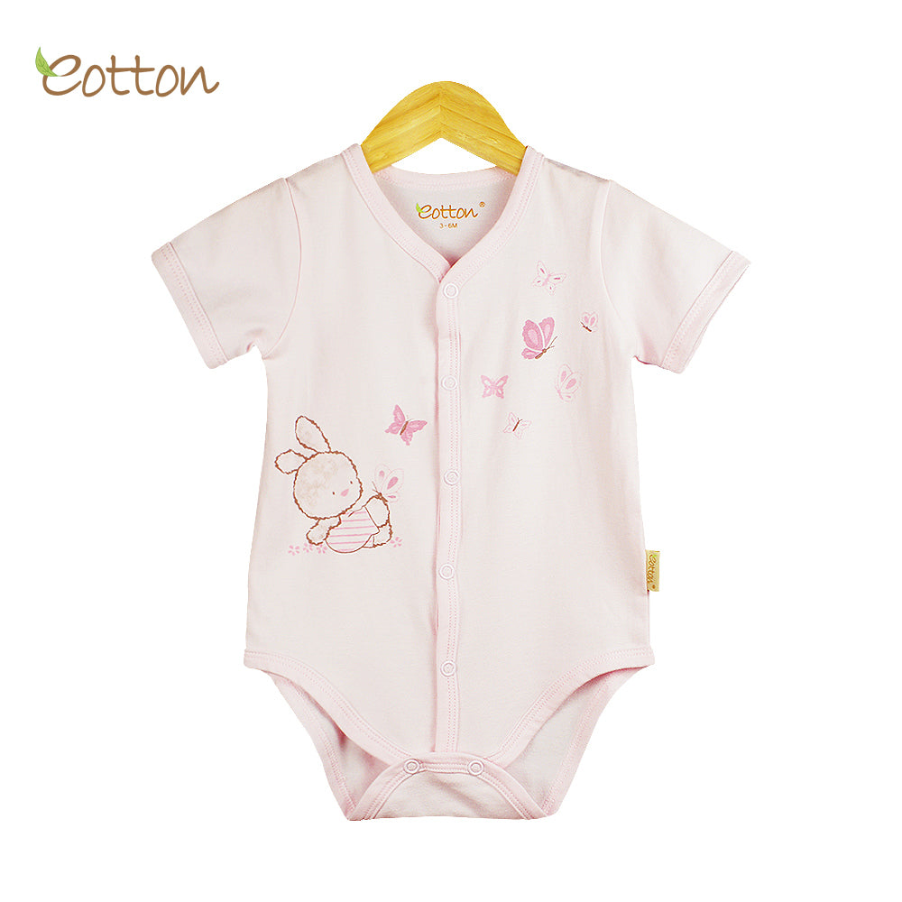 Organic Full Open Baby Pale Pink Bodysuit