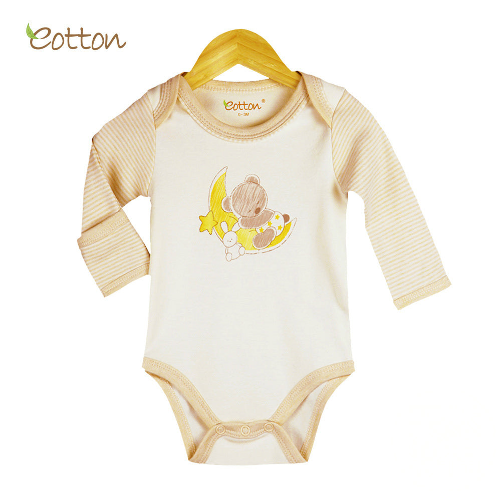 Organic Long Sleeve Bodysuit with Bear on the Moon