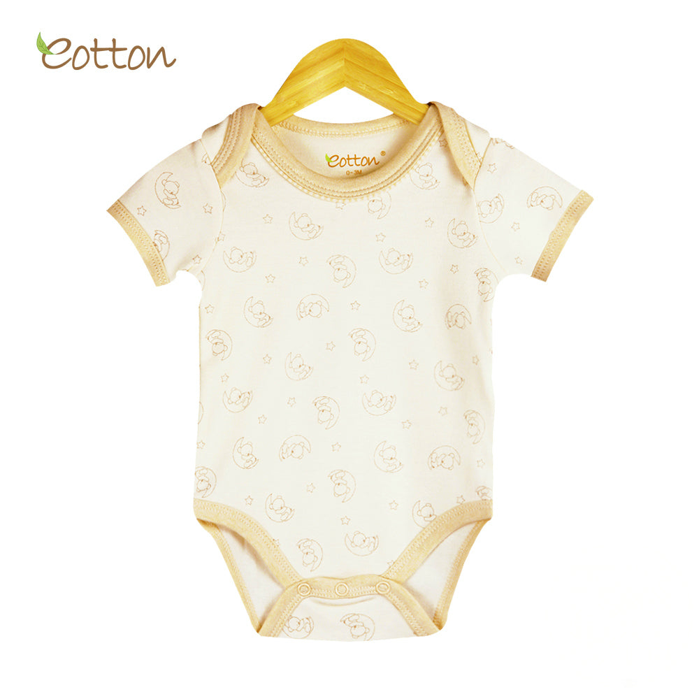 Organic Short Sleeve Body with Moon Pattern