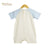 Organic Baby Cream and Blue Summer Romper 2