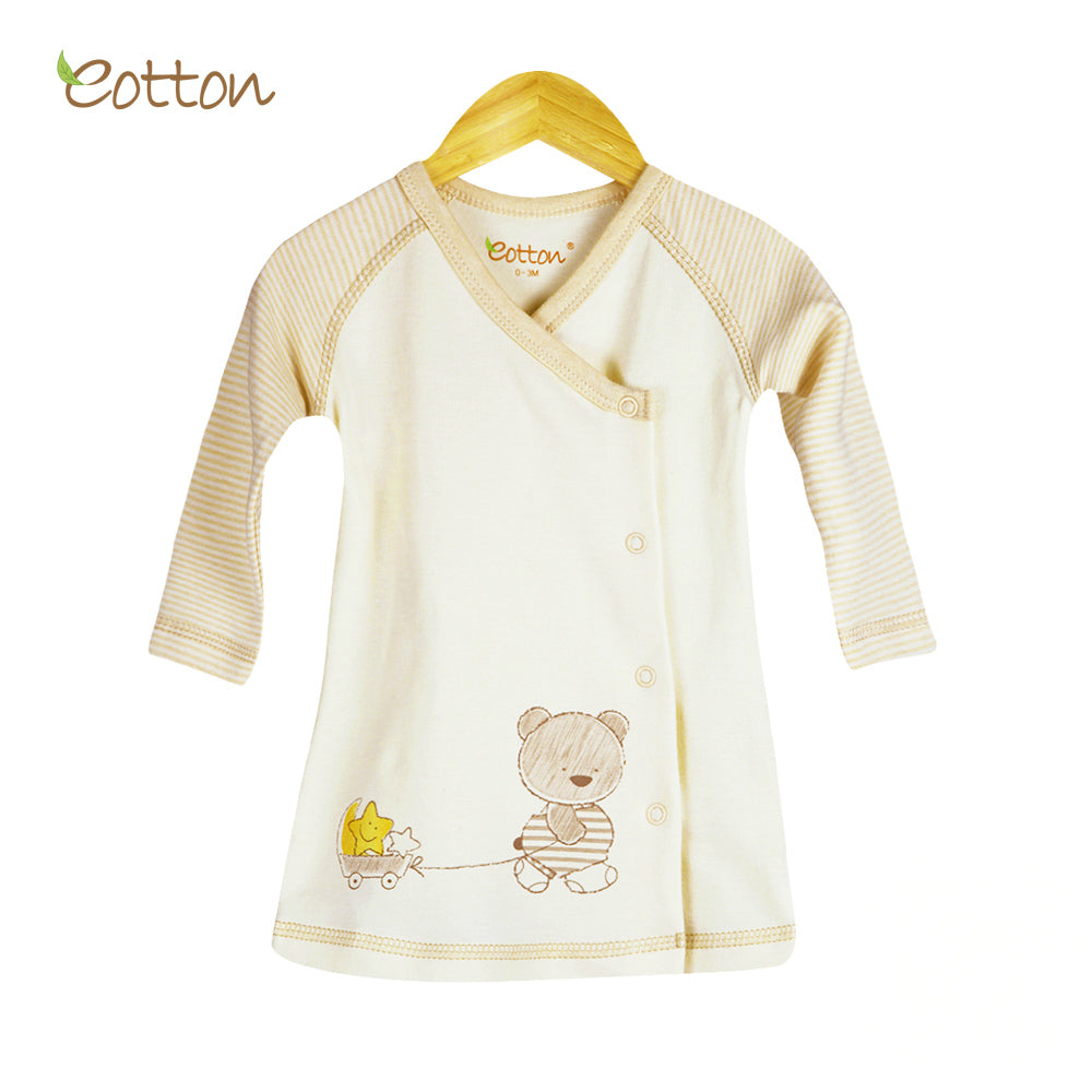 Organic Kimono Top with Bear and Stars