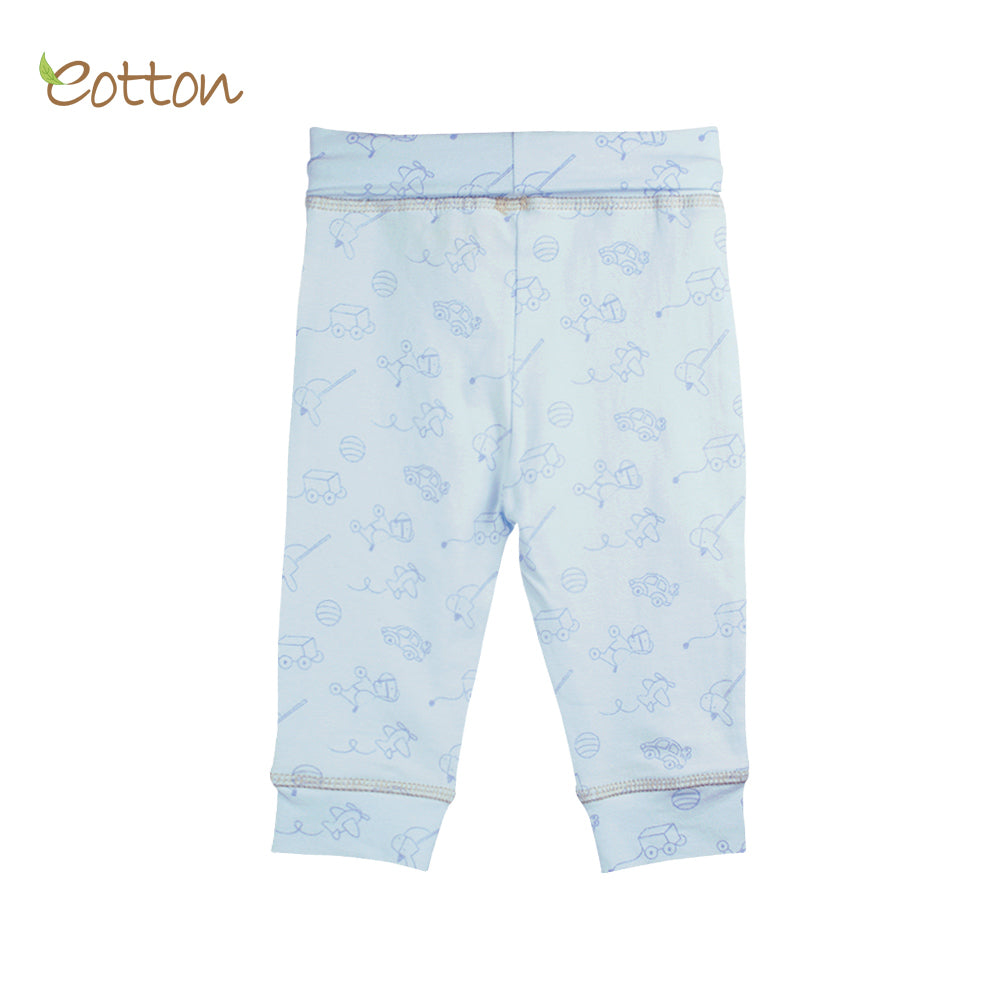 Organic Baby Blue Trousers with Toys.