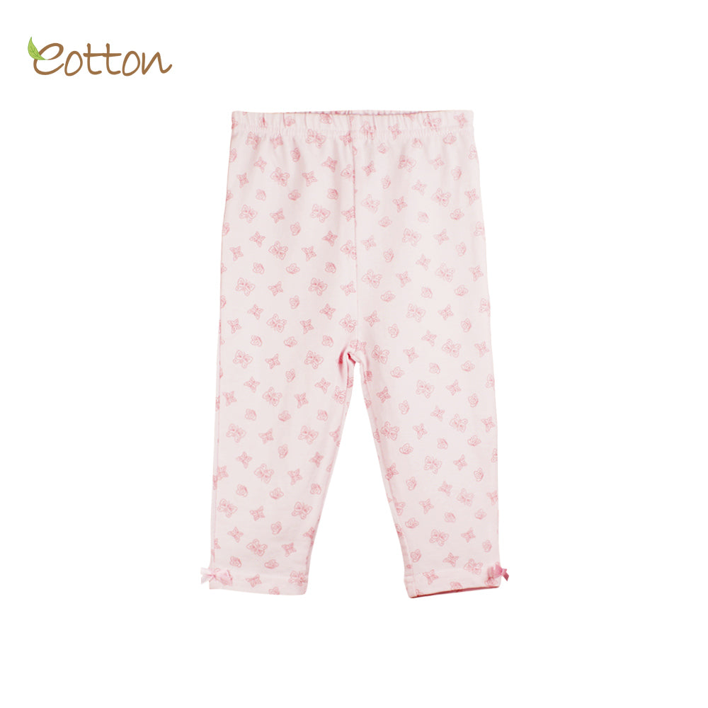 Organic Baby Pink Pyjama Bottoms with Butterflies.