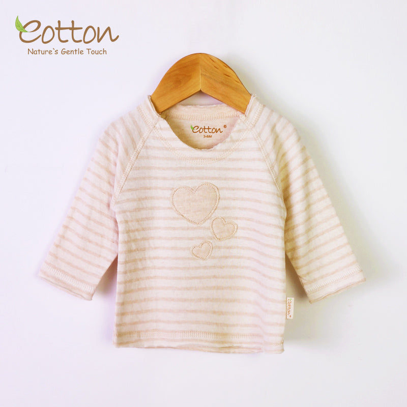 Long Sleeve Organic Cotton Baby Pyjama Top