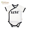Organic Black and White Short Sleeve Graphic Baby Kimono