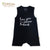 "Organic ""Love You"" Sleeveless Baby Romper"