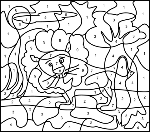 Free Printable Color by Number Coloring Pages