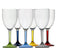 16704 - Party Wine Cup -  Colours Base - 6 pc